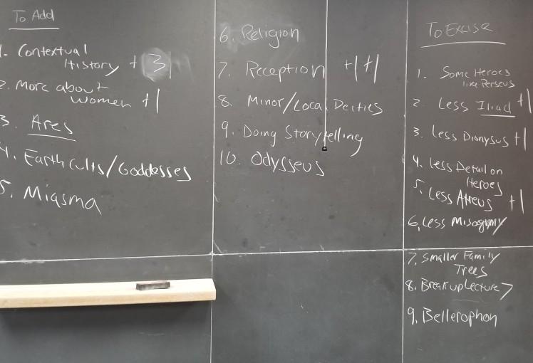 Myth Class feedback